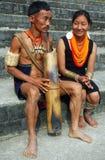 Pista y población de la Nagaland-India. fotografía de archivo
