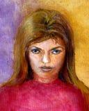 Pista y Sholders de la muchacha Fotografía de archivo libre de regalías