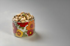 Pistache. A bowl of sicilian pistacchios, salted Stock Images