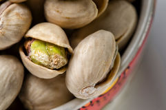 Pistache. A bowl of sicilian pistachios for a healthy snack Royalty Free Stock Photography