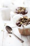 Pistache Cupcakes Stock Afbeelding