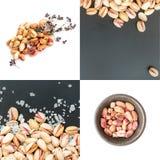 Pistaches de Inshell e pistaches descascados Foto de Stock