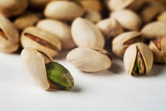 Pistachio. On a white background, snack royalty free stock photos