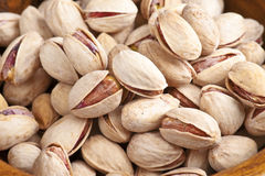 Pistachio. Group of pistachios, making approach stock images