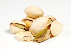 Pistachio. S on a withe background Royalty Free Stock Photos