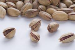 Pistachio. Several pistachio on white background Royalty Free Stock Image
