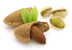 Pistachio and almond Stock Photo