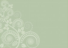 Pistachio background. With floral ornaments Royalty Free Stock Image