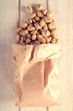 Pistachio in bag Royalty Free Stock Image