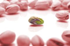 Pistachio border Royalty Free Stock Photography