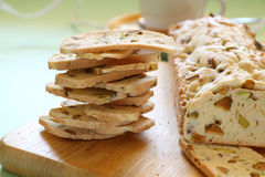 Pistachio Bread Stock Photo