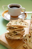 Pistachio Bread And Coffee Royalty Free Stock Photos