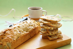Pistachio Bread And Coffee Royalty Free Stock Photo