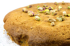 Pistachio cake Royalty Free Stock Images