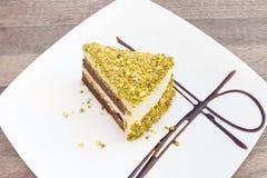Pistachio cake. Royalty Free Stock Image