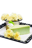 Pistachio cheescake Royalty Free Stock Image
