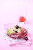 Pistachio Cherry Cupcake Royalty Free Stock Photos