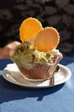 Pistachio and chocolate ice cream Stock Photography
