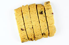 Pistachio cranberry biscotti Royalty Free Stock Image