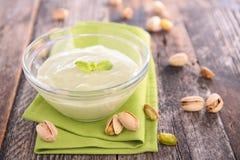 Pistachio cream Royalty Free Stock Photo