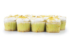 Pistachio Cupcakes Stock Photos