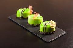 Pistachio dessert on plate Stock Photography