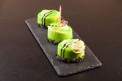 Pistachio dessert on plate Royalty Free Stock Photography