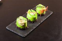 Pistachio dessert on plate Royalty Free Stock Photos