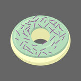 Pistachio donut isolated. Baking Sweets on white background. Del Stock Image
