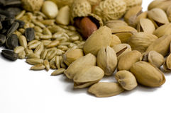 Pistachio e sementes Imagem de Stock Royalty Free