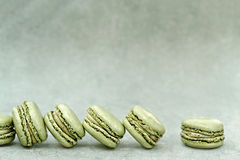 Pistachio Flavored Macarons Stock Photos