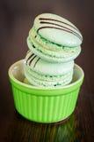 Pistachio flavoured macaroons Stock Image