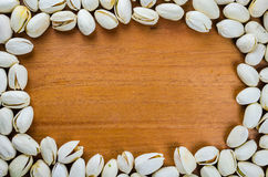 Pistachio frame background Royalty Free Stock Photography