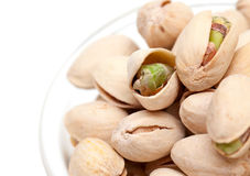 Pistachio in a glass bowl Royalty Free Stock Photos