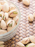 Pistachio in glass bowl Royalty Free Stock Image