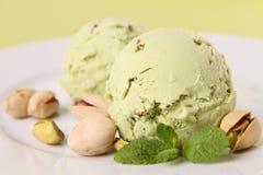 Pistachio ice cream Royalty Free Stock Image