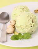 Pistachio ice cream Stock Photo