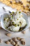 Pistachio ice cream royalty free stock images