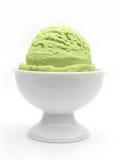 Pistachio ice cream in bowl Stock Photos