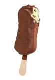 Pistachio ice cream in chocolate glaze Stock Photography
