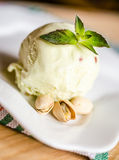 Pistachio ice cream Royalty Free Stock Images