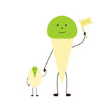 Pistachio and ice cream Royalty Free Stock Images