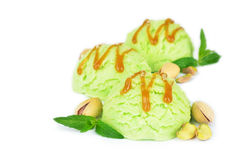 Pistachio ice cream Stock Images