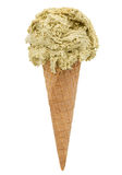 Pistachio ice cream Royalty Free Stock Photo