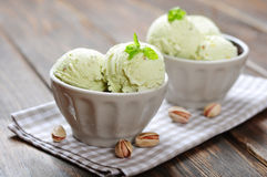 Pistachio ice cream Royalty Free Stock Image