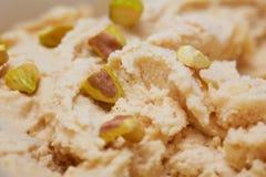 Pistachio ice cream with pistachios Royalty Free Stock Photo