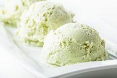 Pistachio ice cream Stock Images