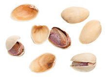 Pistachio isolated set Stock Photography