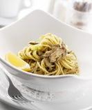 Pistachio lemon pesto Stock Photos