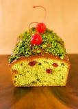 Pistachio loaf cake Stock Image